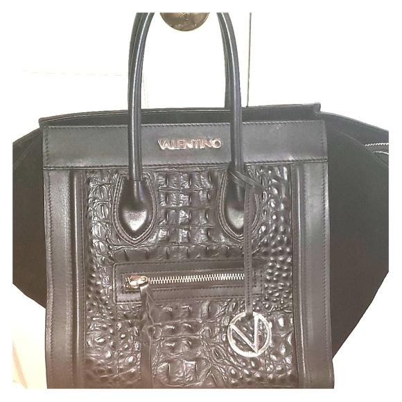 Mario Valentino Cynthia Eline Leather Large Hanbag